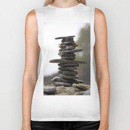 West Coast Inukshuk with Bokeh  #decor #society6 #buyart Biker Tank