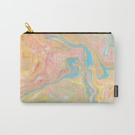 Summer Sherbet Marble Carry-All Pouch