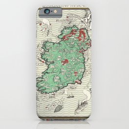 Poster Irish Free State  Northern Ireland (1929) by MacDonald Gil iPhone Case
