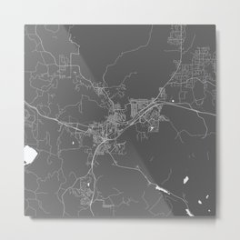 Flagstaff USA Modern Map Art Print Metal Print