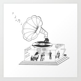 How does a Gramophone actually work? Art Print