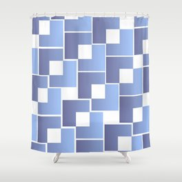 Blue Interlace Shower Curtain