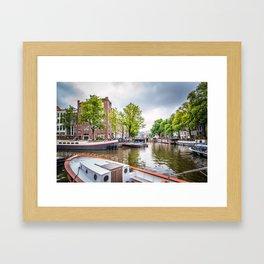 Canal in Amsterdam Framed Art Print
