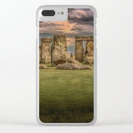 Stonehenge Panoramic Landscape Clear iPhone Case