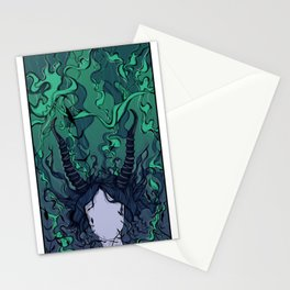 Deep sea goddess Stationery Cards