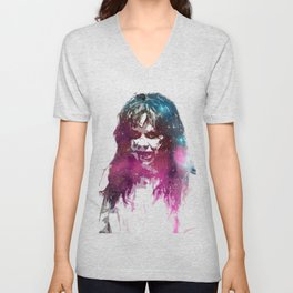 Galaxy Linda Blair Regan MacNeil The Exorcist Unisex V-Neck