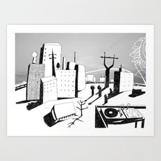suburb Art Print