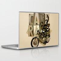 cafe racer Laptop & iPad Skins featuring cafe racer by Liviu Antonescu
