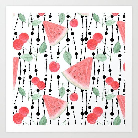 Fruit pattern. Art Print