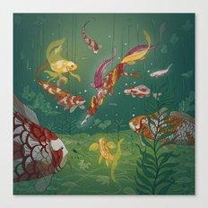 Ukiyo-e tale: The magic pen Canvas Print