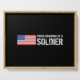 Proud Grandma of a Soldier Serving Tray