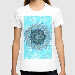 Mandala in snowflake T-shirt
