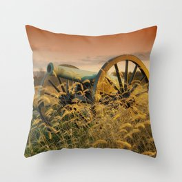 Antique Field Canon Throw Pillow