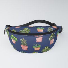 Indoor Plant Collection Blue Fanny Pack