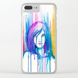 Falling emotions Clear iPhone Case