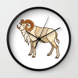 Geometric Dall Sheep Wall Clock