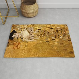 Woman in Gold Portrait by Gustav Klimt Rug