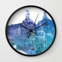 madrid Wall Clocks featuring Madrid by Ksenia Balakireva