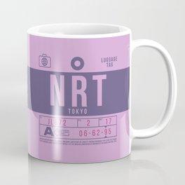 Retro Airline Luggage Tag 2.0 - NRT Tokyo Narita Airport Japan Coffee Mug