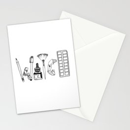 Art Tools of the Craft Stationery Cards