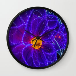 magical flower lights Wall Clock