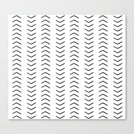 african mudcloth, chevron arrows Canvas Print
