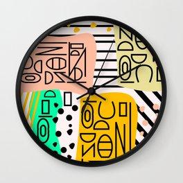 Strange alphabet no.2 Wall Clock