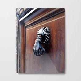 Paris Door Knocker Metal Print