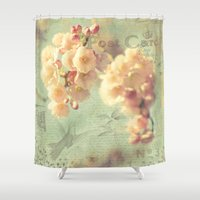 postcard Shower Curtains featuring Postcard by AlejandraClick