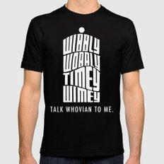 Talk Whovian to Me Black MEDIUM Mens Fitted Tee