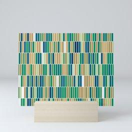 Bookshelves, abstract illustration of vertical bars Mini Art Print