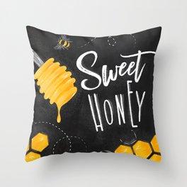 Sweet honey chalk Throw Pillow