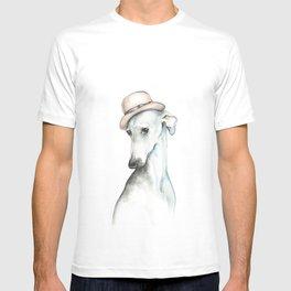 Bowler hat greyhound_ Illustrious dogs. T-shirt