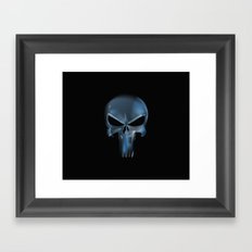 The Punisher Scary Face Framed Art Print