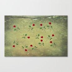 A Dozen Red Roses Canvas Print
