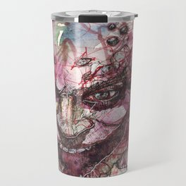 Watercolor Arkham Joker Travel Mug