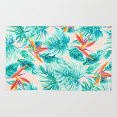 Tropical Paradise Pale Peach Rug
