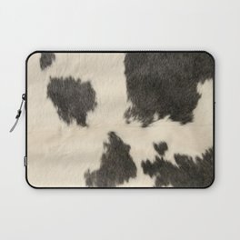 Black & White Cow Hide Laptop Sleeve
