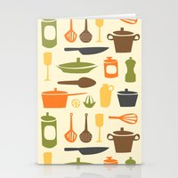 kitchen Stationery Cards featuring Kitchen by Bellwheel