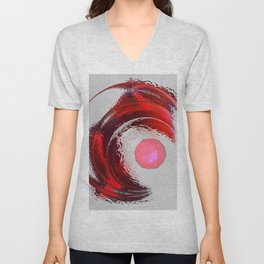 A Ruby Crystal is born Unisex V-Neck