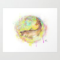 trout Art Prints featuring Trout by Thomas Hanchett