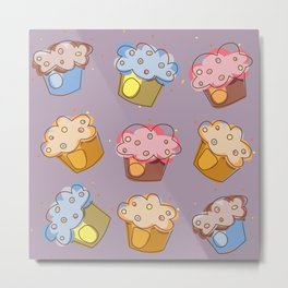 Muffins - pattern Metal Print