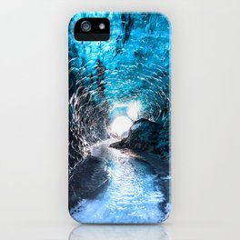 """Frozen Dreams"" - Ice Caves of Iceland iPhone Case"