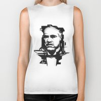 godfather Biker Tanks featuring The GODFATHER by A. Dee