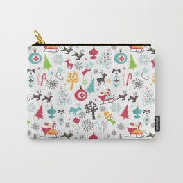 Retro Santa Holiday Christmas Pattern Carry-All Pouch