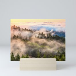 Coastal Fog Over Mount Tamalpais Mini Art Print