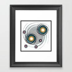 Spinning worlds Framed Art Print