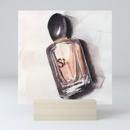 Si -  Perfume - Watercolor Fashion Illustration Mini Art Print