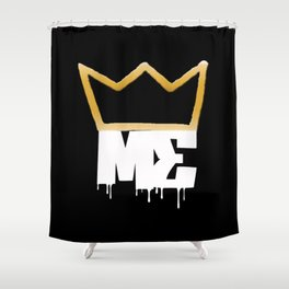 Modesty's End - Wht Crwn Shower Curtain