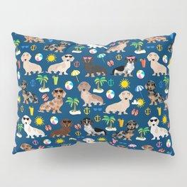 Dachshund beach sunshine summer days doxie dachsie gift must have dog gifts Pillow Sham